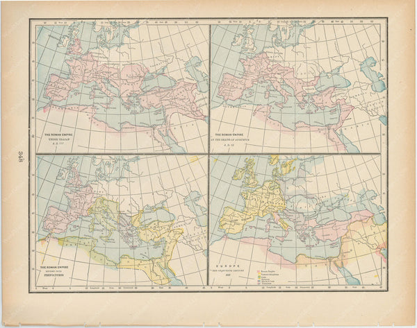 Classical Map 1894: Evolution of the Roman Empire
