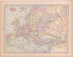 Classical Map 1894: Europe A.D. 1200