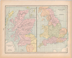 Classical Map 1894: Scotland and England in the Saxon Period