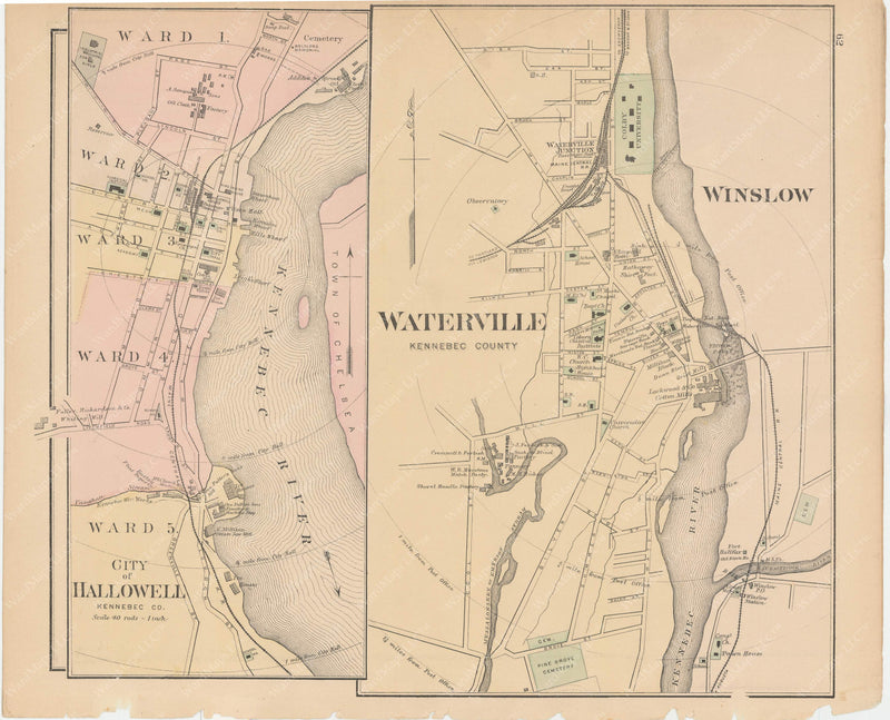 Hallowell and Waterville, Maine 1885