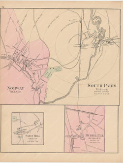 Bethell, Norway, and Paris, Maine 1885