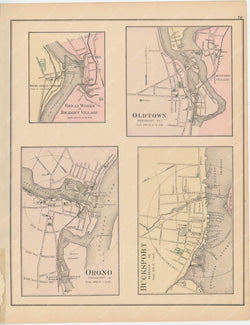 Bradley, Bucksport, Old Town, and Orono, Maine 1885