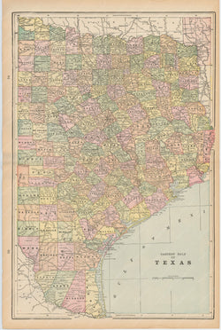Texas: Eastern Part 1894