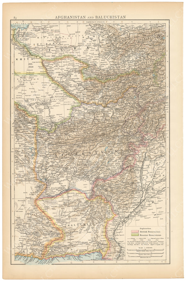 Afghanistan and Baluchistan 1895
