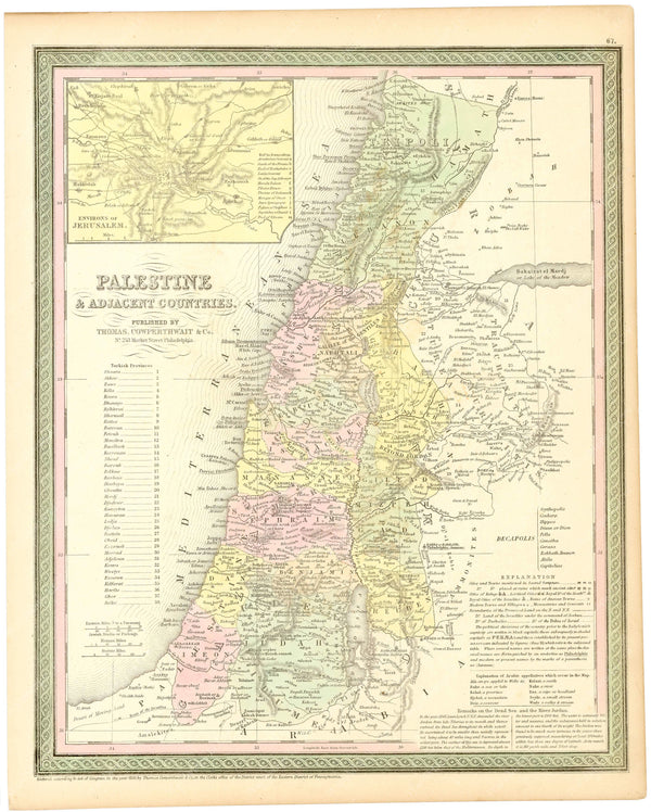 Israel and Palestine 1854