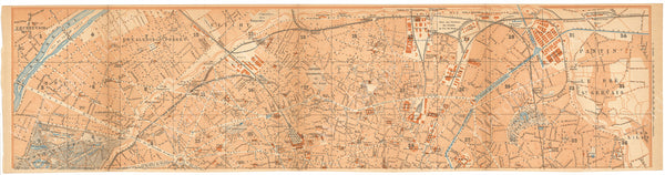Paris, France 1894: Strip Map North
