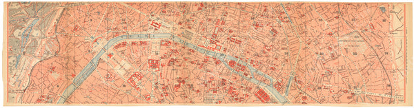 Paris, France 1894: Strip Map Center