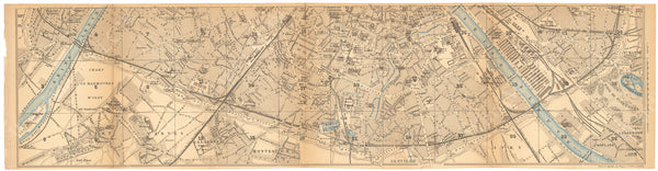Paris, France 1894: Strip Map South