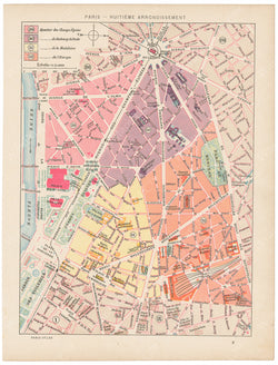 Paris, France Circa 1900: 08th Arrondissement