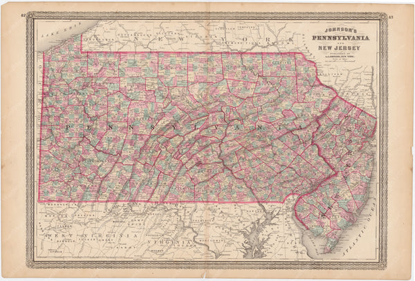New Jersey and Pennsylvania 1873