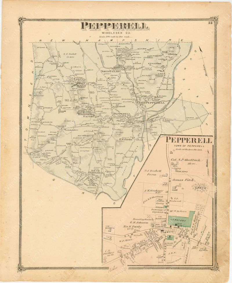 Pepperell, Massachusetts 1875