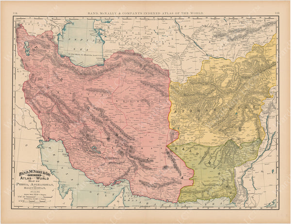 Afghanistan, Baluchistan, and Persia 1892