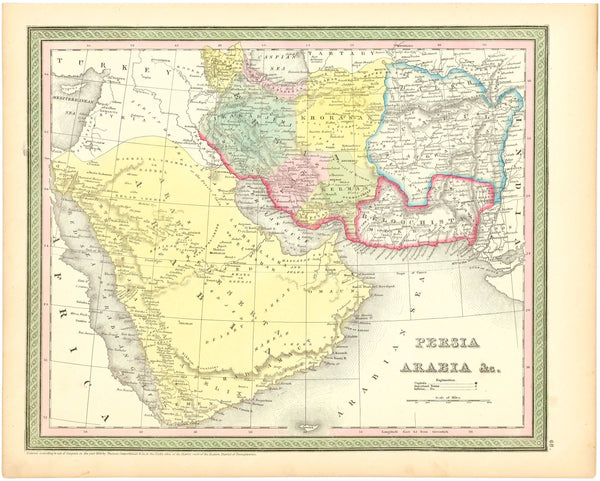 Arabia and Persia 1854