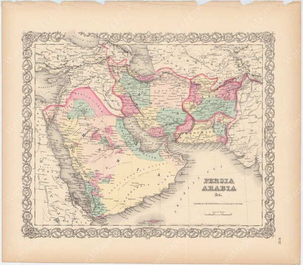 Arabia and Persia 1856