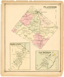Plainfield, North Montpelier, and East Montpelier, Vermont 1873