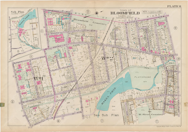 Essex County, New Jersey, Vol. D, 1932 Plate 008: Bloomfield