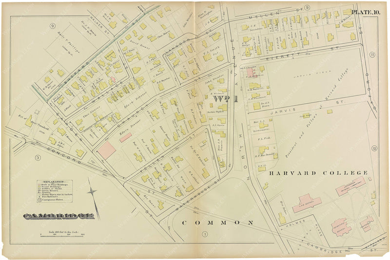 Cambridge, Massachusetts 1886 Plate 010