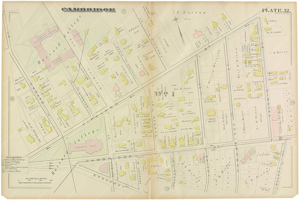Cambridge, Massachusetts 1886 Plate 012