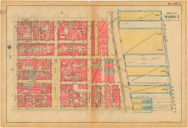 Philadelphia, Pennsylvania, 1927, 5th to 10th Wards: Plate 001