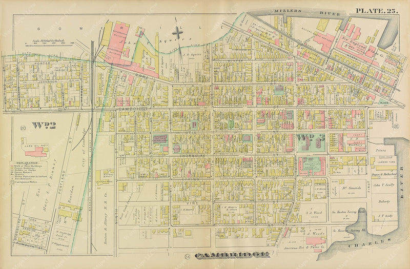 Cambridge, Massachusetts 1886 Plate 025
