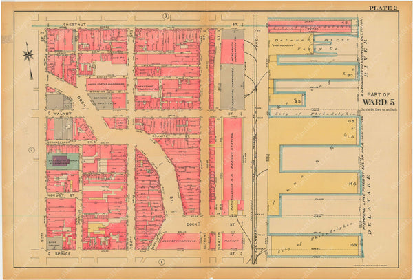 Philadelphia, Pennsylvania, 1927, 5th to 10th Wards: Plate 002
