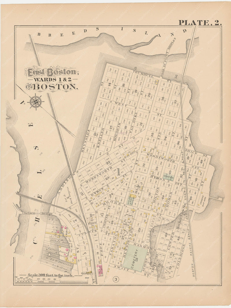 Boston, Massachusetts 1882 Plate 002