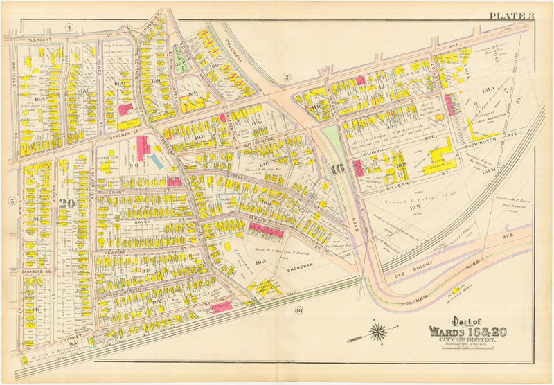 Dorchester, Massachusetts 1910 Plate 003