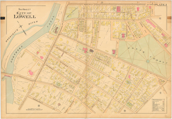 Lowell, Massachusetts 1896 Plate 003