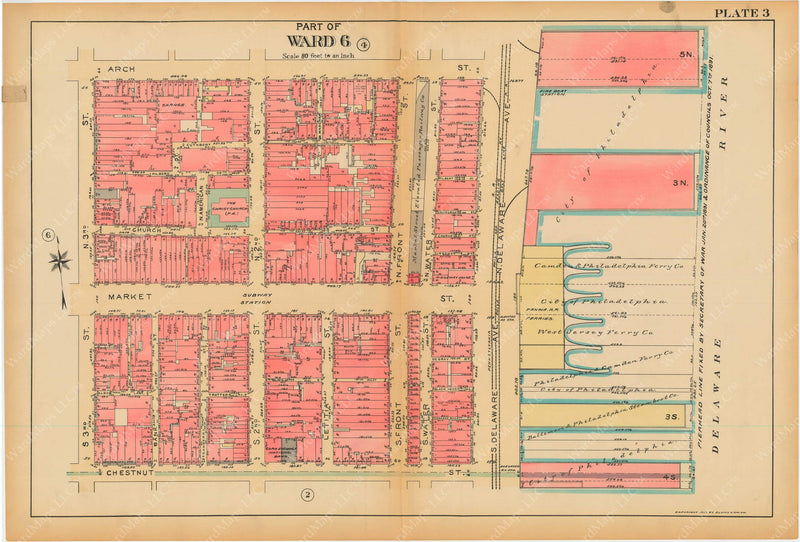 Philadelphia, Pennsylvania, 1927, 5th to 10th Wards: Plate 003