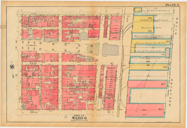 Philadelphia, Pennsylvania, 1927, 5th to 10th Wards: Plate 004