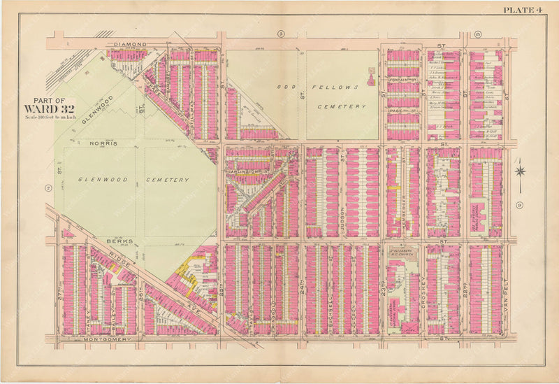 Atlas of Philadelphia, Pennsylvania 1908, 28th, 32nd, and 37th Wards: Plate 004
