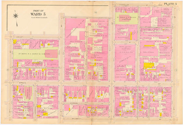 Philadelphia, Pennsylvania 1908, 5th, 7th, and 8th Wards: Plate 005