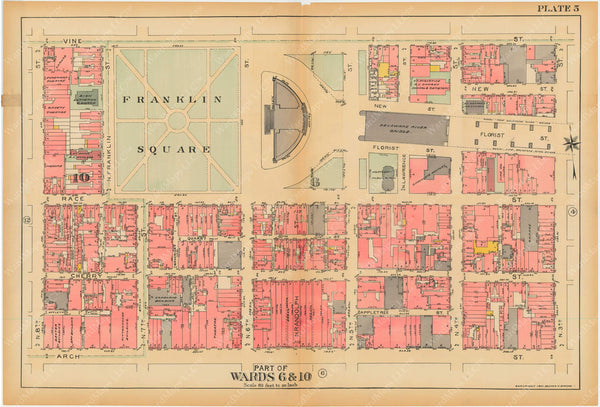 Philadelphia, Pennsylvania, 1927, 5th to 10th Wards: Plate 005