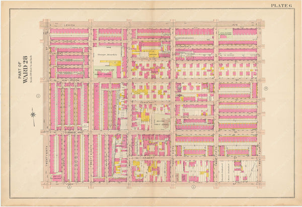 Atlas of Philadelphia, Pennsylvania 1908, 28th, 32nd, and 37th Wards: Plate 006