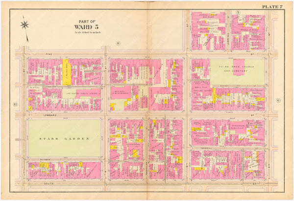 Philadelphia, Pennsylvania 1908, 5th, 7th, and 8th Wards: Plate 007