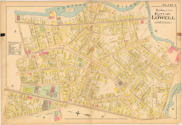 Lowell, Massachusetts 1896 Plate 007