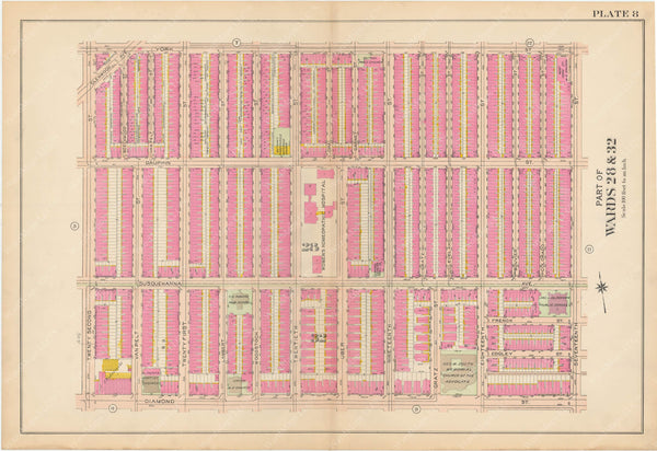 Atlas of Philadelphia, Pennsylvania 1908, 28th, 32nd, and 37th Wards: Plate 008