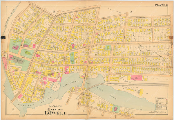 Lowell, Massachusetts 1896 Plate 008