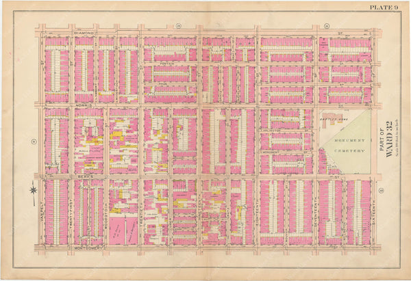 Atlas of Philadelphia, Pennsylvania 1908, 28th, 32nd, and 37th Wards: Plate 009