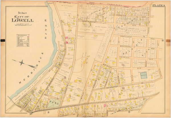 Lowell, Massachusetts 1896 Plate 009
