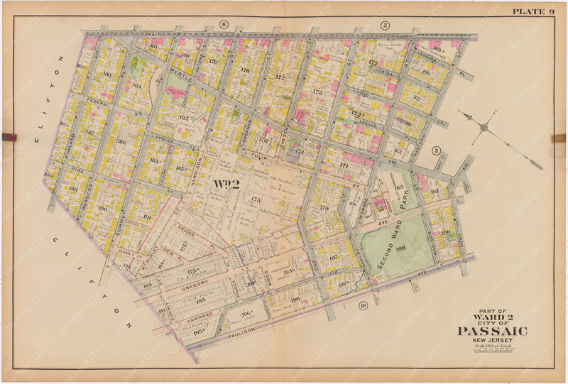 Passaic and Acquackanonk, New Jersey 1916 Plate 009