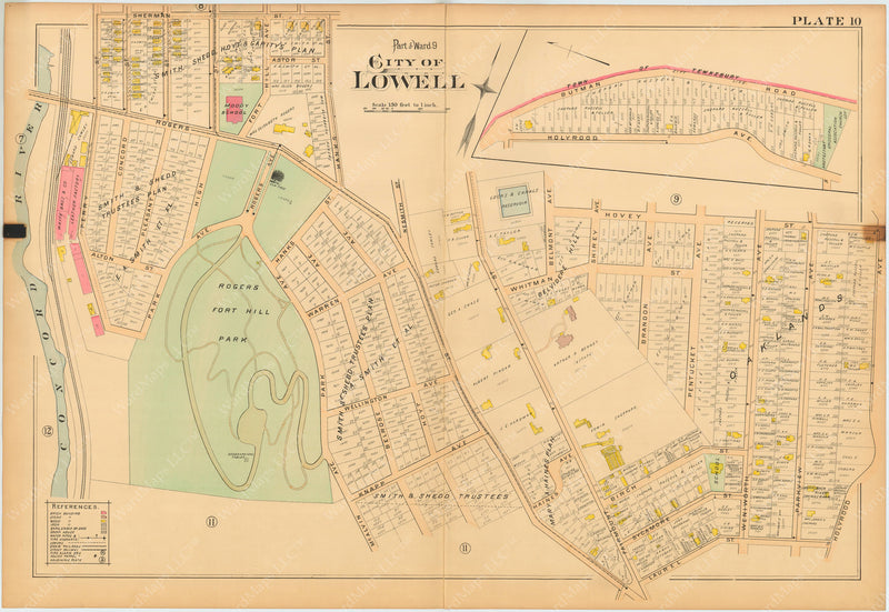Lowell, Massachusetts 1896 Plate 010