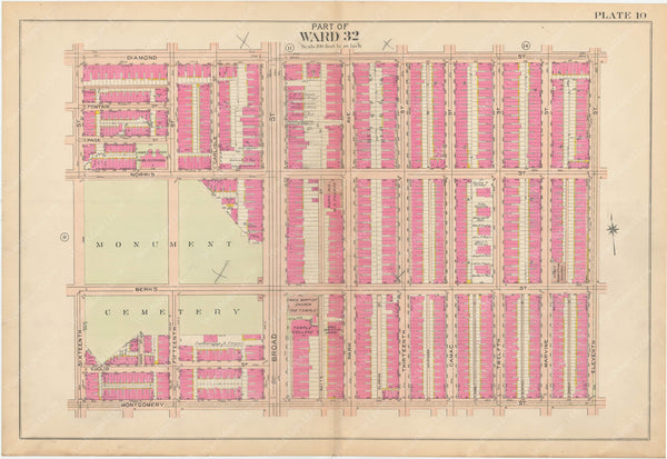 Atlas of Philadelphia, Pennsylvania 1908, 28th, 32nd, and 37th Wards: Plate 010