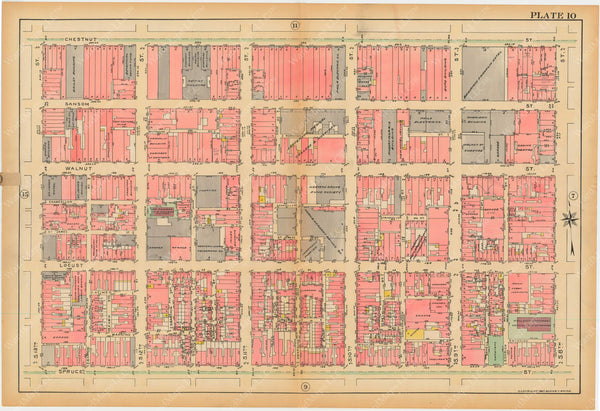 Philadelphia, Pennsylvania, 1927, 5th to 10th Wards: Plate 010