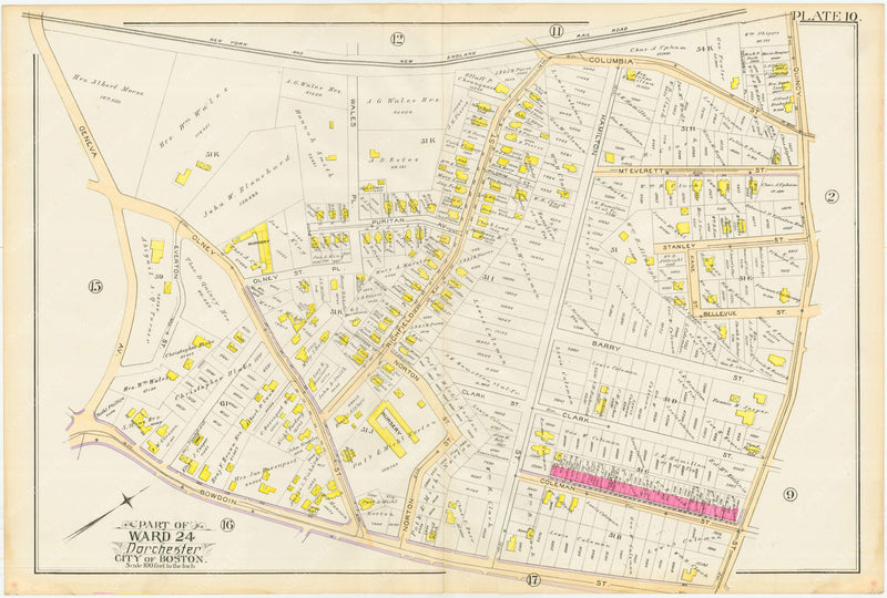 Dorchester, Massachusetts 1889 Plate 010