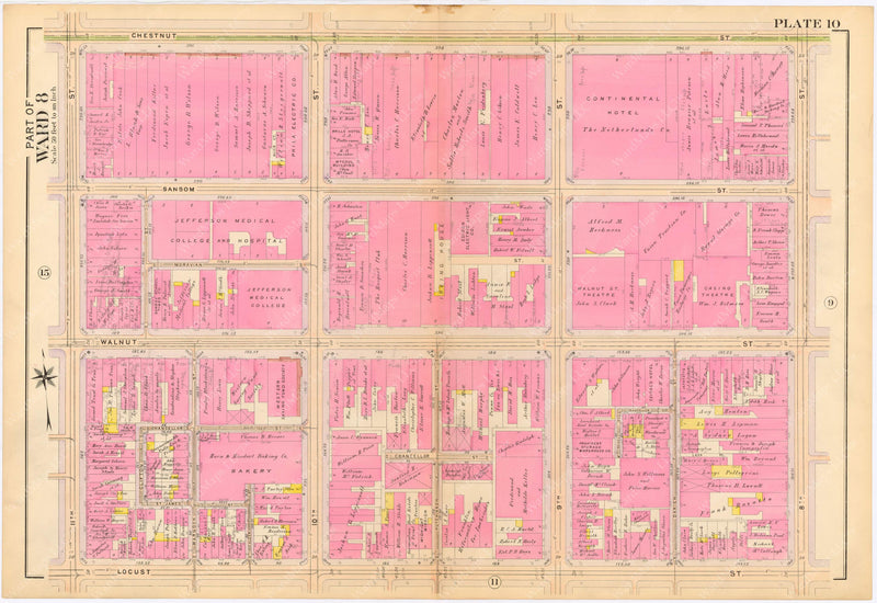 Philadelphia, Pennsylvania 1908, 5th, 7th, and 8th Wards: Plate 010
