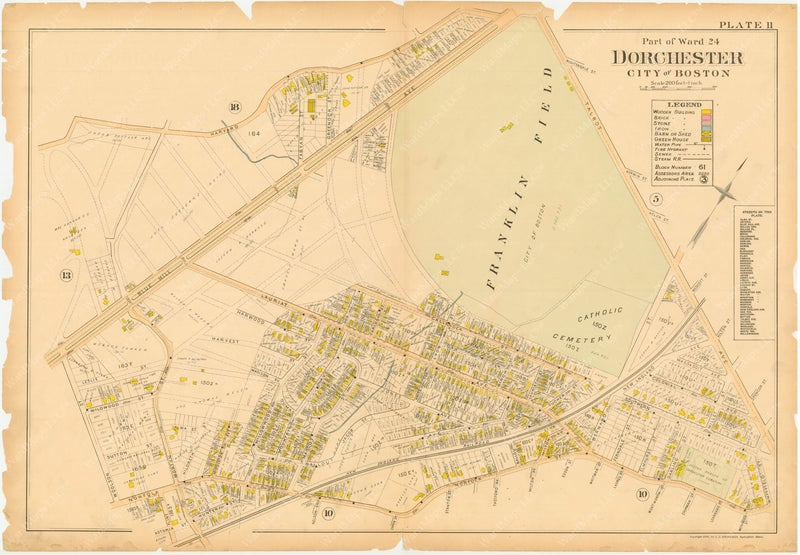 Dorchester, Massachusetts 1895 Plate 011