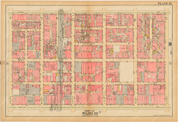 Philadelphia, Pennsylvania, 1927, 5th to 10th Wards: Plate 012