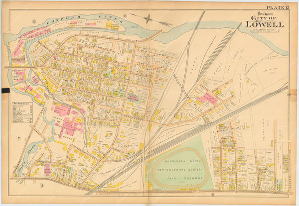 Lowell, Massachusetts 1896 Plate 012