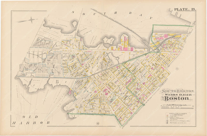 Boston, Massachusetts 1882 Plate 013